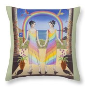 Gemini / Iris And Arke Throw Pillow