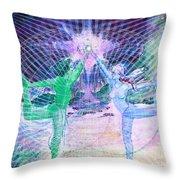 Gemini Moon Mandala Throw Pillow