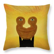 Gemini. Self-portrait Throw Pillow