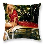 Gemma Ward Throw Pillow