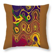 Gems 5 Throw Pillow