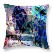 Gems Of Ice Throw Pillow