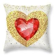 Gemstone - 1 Throw Pillow