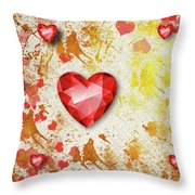 Gemstone - 7 Throw Pillow