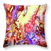 Gemstone Impressions Throw Pillow