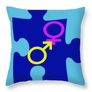 Gender Conundrum Throw Pillow