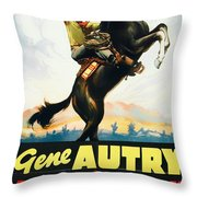 Gene Autry In Home On The Prairie 1939 Throw Pillow