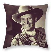 Gene Autry, Vintage Actor/singer Throw Pillow