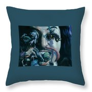 Gene Simmons House Of Horrors Throw Pillow