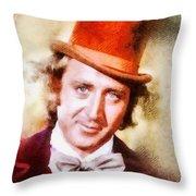 Gene Wilder, Vintage Actor Throw Pillow