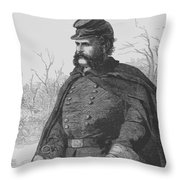 General Ambrose Burnside Throw Pillow