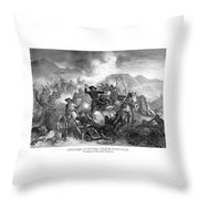 General Custer's Death Struggle  Throw Pillow
