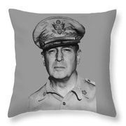 General Douglas Macarthur Throw Pillow by War Is Hell Store