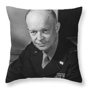 General Dwight Eisenhower Throw Pillow by War Is Hell Store