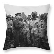 General Eisenhower On D-day  Throw Pillow by War Is Hell Store