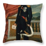 General Etienne  Maurice Gerard Jacques  Louis David  1816 Throw Pillow
