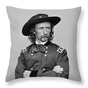 General George Armstrong Custer Throw Pillow