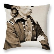 General George Custer Throw Pillow