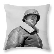 General George S. Patton Throw Pillow