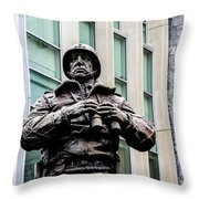 General George S Patton Throw Pillow