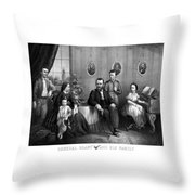 General Grant And His Family Throw Pillow