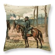General Grant, Battle Of Shiloh, 1862 Throw Pillow