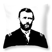 General Grant Black And White  Throw Pillow
