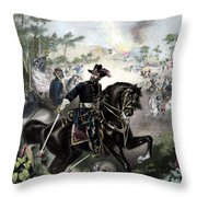 General Grant During Battle Throw Pillow