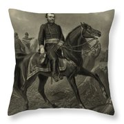 General Grant On Horseback  Throw Pillow