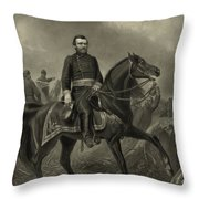 General Grant On Horseback  Throw Pillow