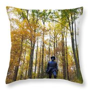 General In The Colors Throw Pillow
