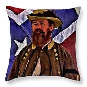 General Jeb Stuart Of Vmi Throw Pillow