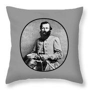 General Jeb Stuart Throw Pillow
