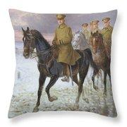 General John J Pershing  Throw Pillow by Jan van Chelminski