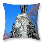 General Lafayette Memorial In Lafayette Square Throw Pillow