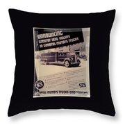 General Motor Truck Trailer Throw Pillow