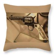 General Patton's Model 1873 Colt 45 Revolver  Throw Pillow