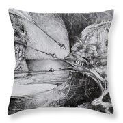 General Peckerwood In Purgatory Throw Pillow