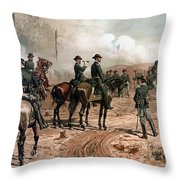 General Sherman Observing The Siege Of Atlanta Throw Pillow