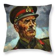 General Sir Alan Cunningham Throw Pillow