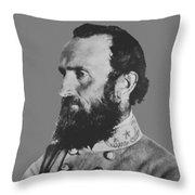 General Stonewall Jackson Profile Throw Pillow