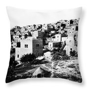 General View Of Bethlehem 1800s Throw Pillow