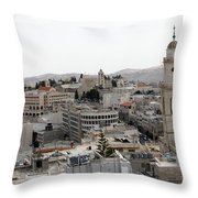 General View Of Bethlehem 2009 Throw Pillow