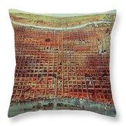 General View Of Philadelphia Throw Pillow