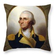 General Washington - Porthole Portrait  Throw Pillow