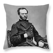 General William Sherman Throw Pillow by War Is Hell Store