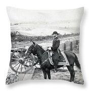 General William T Sherman On Horseback - C 1864 Throw Pillow