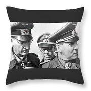Generalfeldmarschall  Erwin Rommel And Staff Number 1 North Africa 1942 Color Added 2016 Throw Pillow