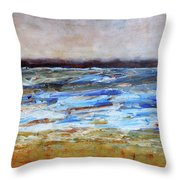 Generations Abstract Landscape Throw Pillow