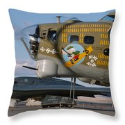 Generations B-17 And B-2 Throw Pillow